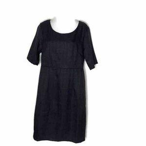 Mikarose Womens Merida Shift Dress Navy Plaid